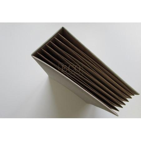 Baza albumowa do scrapbookingu 162x212, BAZYL PION - kraft z naturalną okładką , 6 kart / Eco Scrapbooking