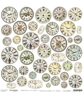Dodatki do scrapbookingu Craft O'Clock Mixed Media XII zegary 2