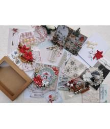 Zestaw kartkowy - kit do samodzielnego wykonania kartek świątecznych