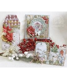 Kurs online - kartki świąteczne 5 szt. w różnych stylach i rozmiarach - wariant bez kitu