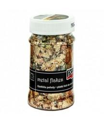 Folia do złoceń w płatkach Pentart 100 ml, złota miedziana zielona mix