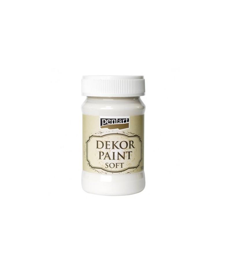 Farba kredowa Dekor Paint Chalky Pentart 21627, biała kremowa