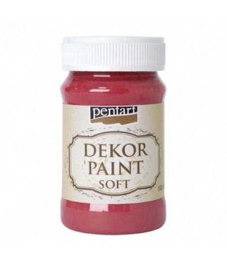 Farba kredowa Dekor Paint Chalky Pentart 21634, czerwień kardynalska