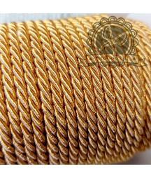 Sznurek dekoracyjny, pleciony złoty 3 mm