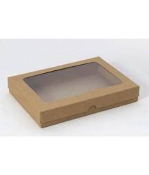 Pudełko z okienkiem kraft wysokie A5