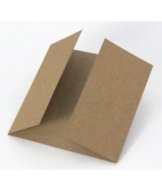 Baza do kartki kwadratowa kraft 14x14 podwójna listewka