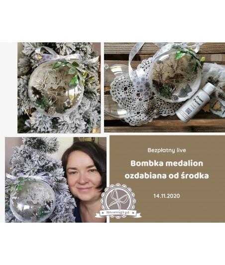 Bombka medalion - kit (zestaw materiałów)