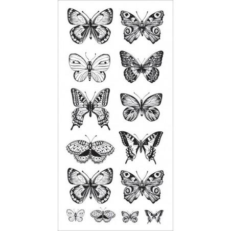 Arkusz naklejek transparentnych, Butterflies [ST915]