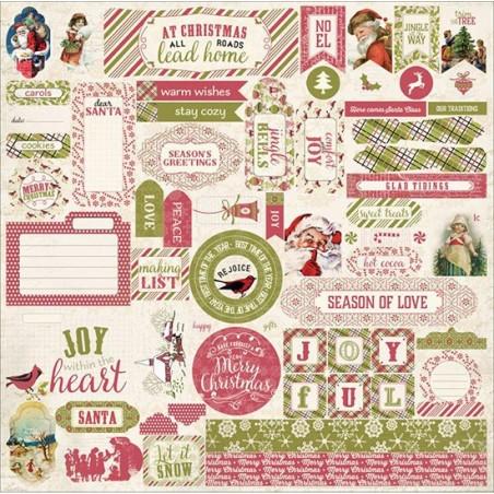 Zestaw naklejek, Christmastime Cardstock Stickers, Details [CMT007]