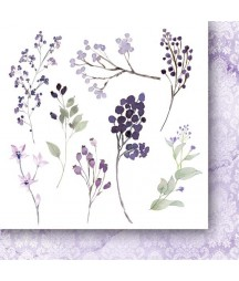Bloczek z dodatkami do wycinania 15x15 cm, Zza mgły - flowers - Paper Heaven /Galeria Papieru