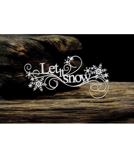 Elementy tekturowe SnipArt, Frosty Moments - Napis Let It Snow
