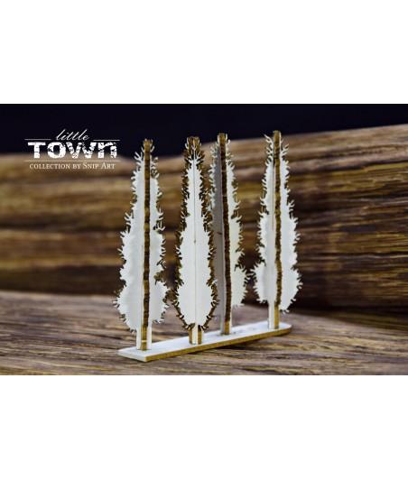 Elementy tekturowe SnipArt, Little Town - Mini Cyprysy 4882