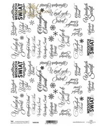 Papier do scrapbookingu A4 ITD 0166, Wesołych Świąt