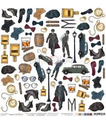 Dodatki do scrapbookingu Craft O'Clock Age of Gentleman - Era dżentelmena