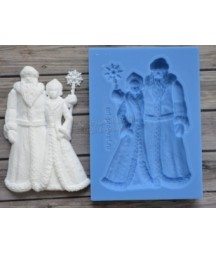 Forma silikonowa ProSvet, Św. Mikołaj i Śnieżynka