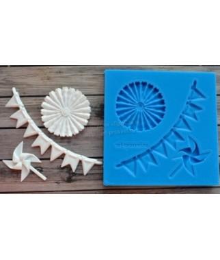 Foremka silikonowa ProSvet, Zestaw ozdób papierowych