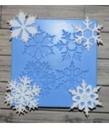 Foremka silikonowa ProSvet, Śnieżynki 4 szt.