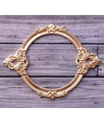 Ozdobna ramka metalowa ProSvet, okrągła złota