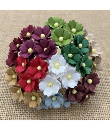 Kwiatki do scrapbookingu Mixed Christmas Sweetheart Blossom SAA-559 15 mm, 20 szt.