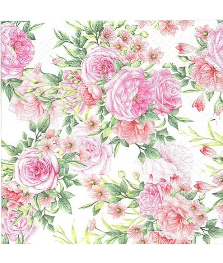 Serwetka do decoupage - Róże 7