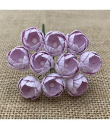 Kwiatki do scrapbookingu Pale Lilac Mulberry Buttercups SAA-548 25 mm, 10 szt.