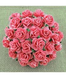 Papierowe różyczki, Pink Mulberry Open Roses SAA-008 15 mm