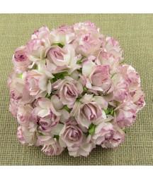 Kwiatki do scrapbookingu Rose Pink Blush Mulberry Wild Roses SAA-321 30 mm, 5 szt.