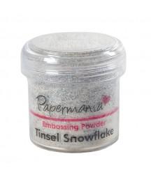 Puder do embossingu Papermania, Tinsel Snowflake - srebrny