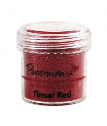 Puder do embossingu Papermania, Tinsel Red - czerwony