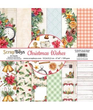 Bloczek papierów do scrapbookingu ScrapBoy 6x6, Christmas Wishes
