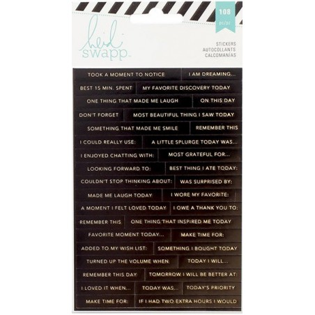 Zestaw naklejek, Heidi Swapp Memory Planner Word Stickers, Word Jumble [HS312580]