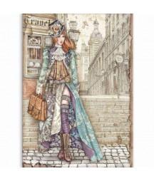 Papier ryżowy Stamperia A4 - Lady Vagabond DFSA4518
