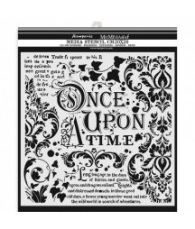 Szablon do past strukturalnych i decoupage, Stamperia - Once Upon a Time KSTDG06