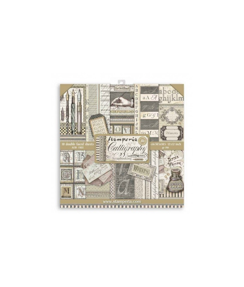 Papiery do scrapbookingu, Caligraphy SBBL79 Stamperia - bloczek