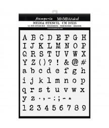 Szablon dekoracyjny 20x25 cm, Stamperia Mix Media, Alfabet KSTD061