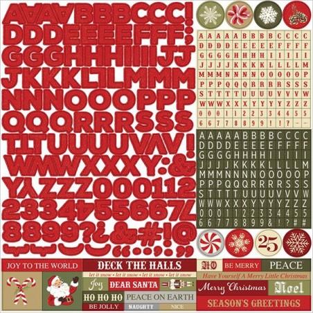 Zestaw naklejek z alfabetem, Holiday Cheer, Alphas