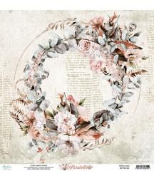 Papier do scrapbookingu Mintay Papers 12x12, Florabella 04 przód