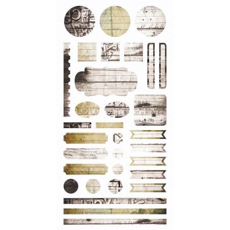 Arkusz naklejek 6x12, Writer's Block - Element stickers [7DS]