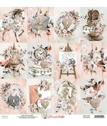 Papier do scrapbookingu Mintay Papers 12x12, Florabella 06 przód