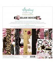 Zestaw papierów do scrapbookingu 30x30 Glam Rock - Mintay Papers
