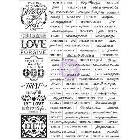 Zestaw naklejek Prima Love, Faith, Scrap Planner Stickers, Words [589844]