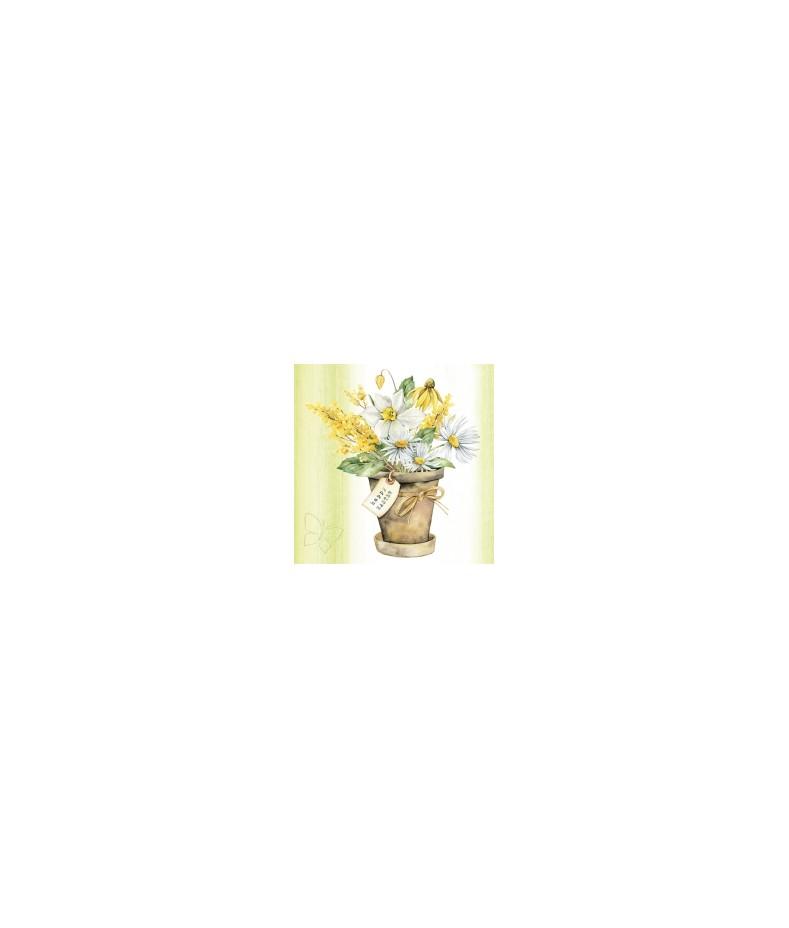 Serwetka do decoupage - motyw wiosennych kwiatów