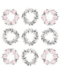 Zestaw papierów do scrapbookingu 30x30 cm, Pierścień i róża - Paper Heaven