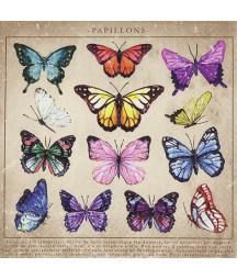 Serwetka do decoupage z motywem kolorowych motyli