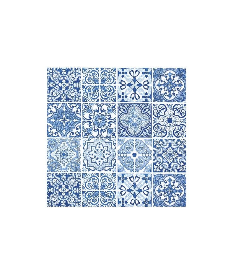 Serwetka do decoupage - niebieskie płytki