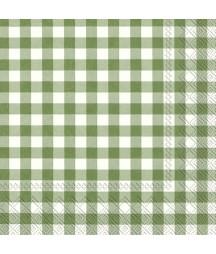 Serwetka do decoupage - Zielona kratka