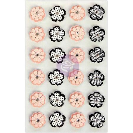 Ozdoby samoprzylepne, Prima Traveler's Journal Flowers, Pearls & Lace [594091]