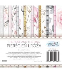 Zestaw papierów do scrapbookingu Pierścień i róża flowers - dodatki - Paper Heaven