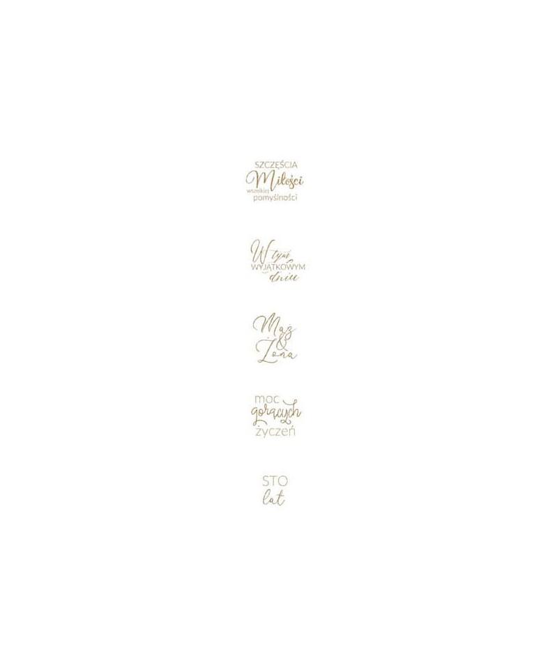 Dodatki do wycinania Paper Heaven - Pierścień i róża - napisy PIR01