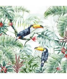 Serwetka do decoupage - tukany w dżungli